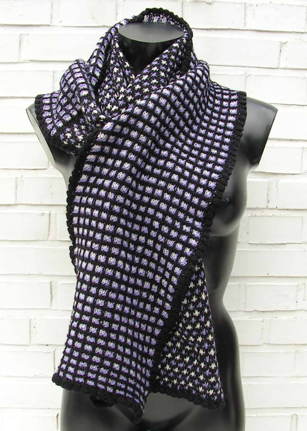 Strikket tørklæde i unikt design